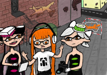 Squid Sisters as Detectives