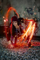 InFAMOUS: Delsin Rowe female cosplay