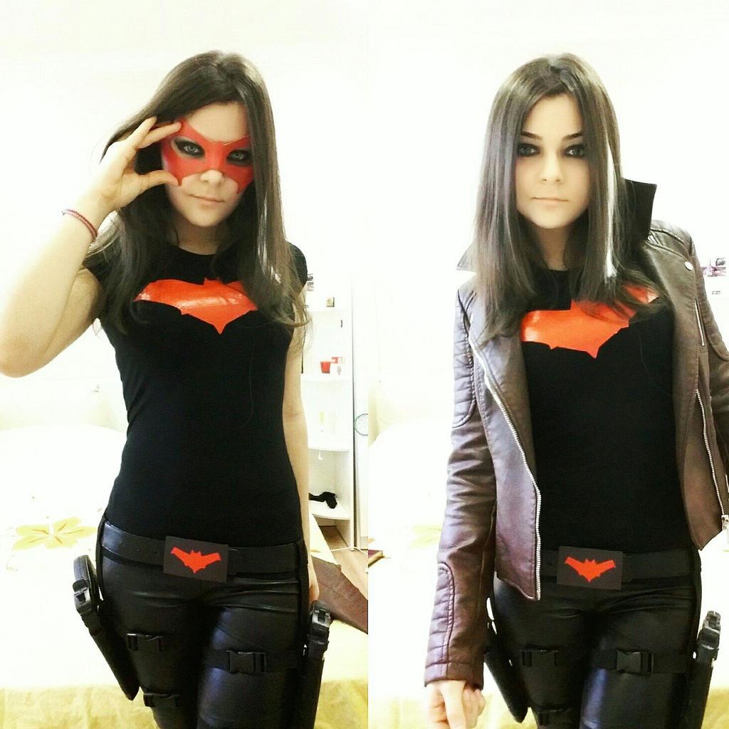 Female red hood cosplay