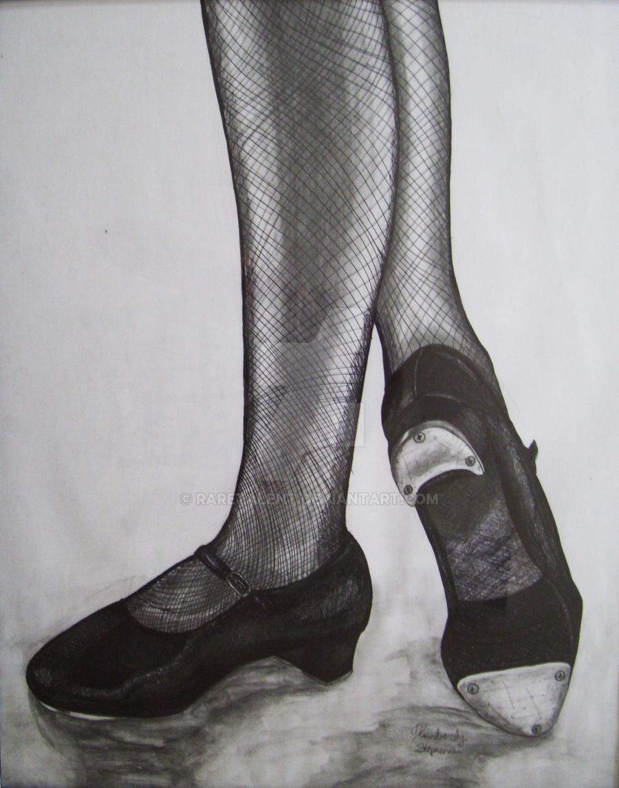 tap dancing shoes drawing