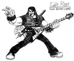 Eddie Riggs from Brutal Legend by 4xEyes1987