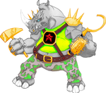 TMNT (2012) Rocksteady (colored)