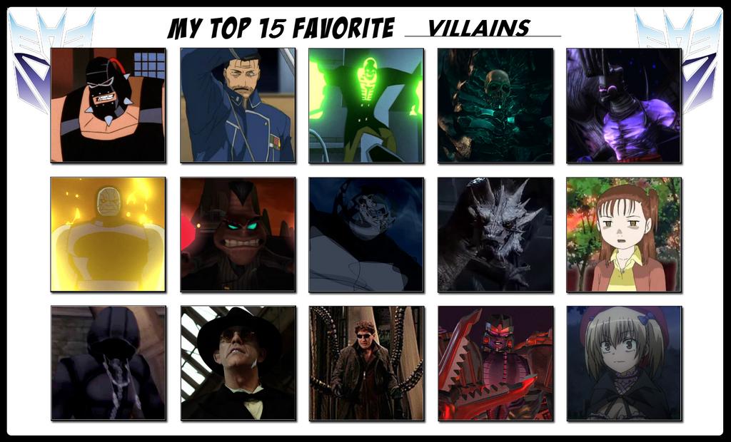 My Top 15 Favorite Villains by 4xEyes1987 on DeviantArt