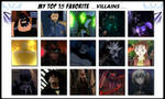 My Top 15 Favorite Villains by 4xEyes1987