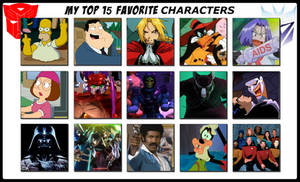 My Top 15 Favorite Characters