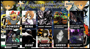 My Top 10 Favorite Characters Sora Should Fight