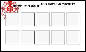 Top 10 Favorite Fullmetal Alchemist ______________