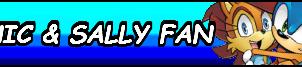 Sonic X Sally Fan Button by 4xEyes1987