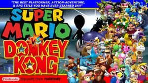 Dream Game, Super Mario VS Donkey Kong (Wallpaper) by 4xEyes1987