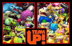 Team Up - Kremling Krew and Koopalings by 4xEyes1987
