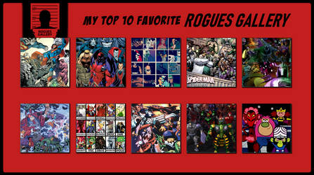 My Top 10 Favorite Rogues Gallery by 4xEyes1987