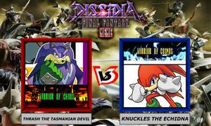 Dissidia Sonic The Hedgehog ~ Thrash VS Knuckles