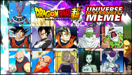Dragon Ball Super 10 Strongest Universe Example by 4xEyes1987