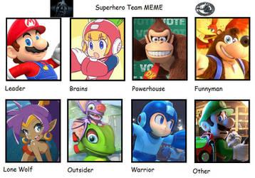 Nintendo Heroes as Superhero Team by 4xEyes1987
