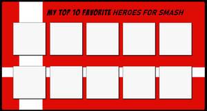 Top 10 Favorite Heroes for Smash