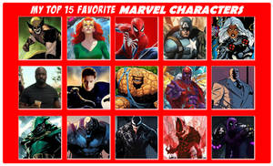 My Top 15 Favorite MARVEL Characters