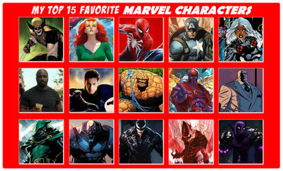 My Top 15 Favorite MARVEL Characters by 4xEyes1987