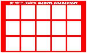 Top 15 Favorite MARVEL Characters
