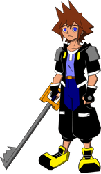 Bruce Timm Style ~ Sora (Kingdom Hearts) by 4xEyes1987