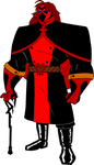 Bruce Timm Style ~ Crimson (Fullmetal Kingdom OC) by 4xEyes1987