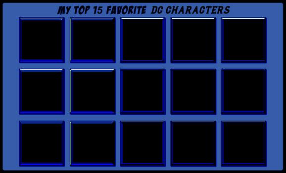 Top 15 Favorite DC Characters