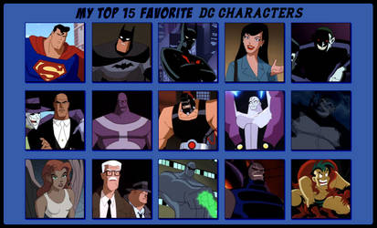 My Top 15 Favorite DC Characters