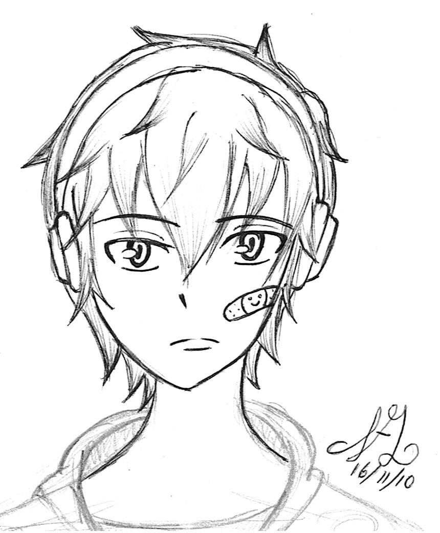 boy with headphones by akatowari on deviantart