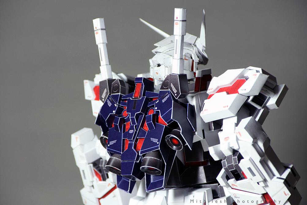 Unicorn Gundam Destroy Mode Jetpack Papercraft By PatilMITH