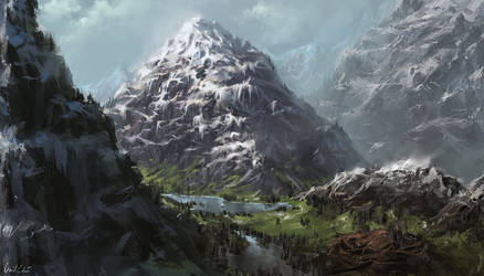 The Ancient Pyramid Mountains by UnidColor