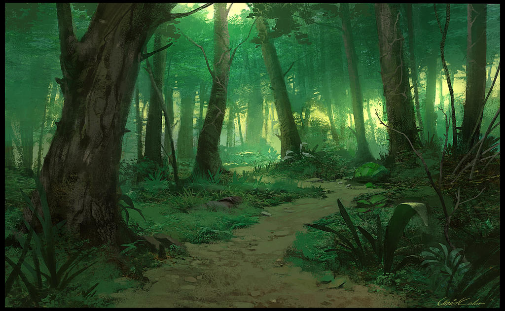 Green forest by unidcolor on deviantart for Dark forest green paint