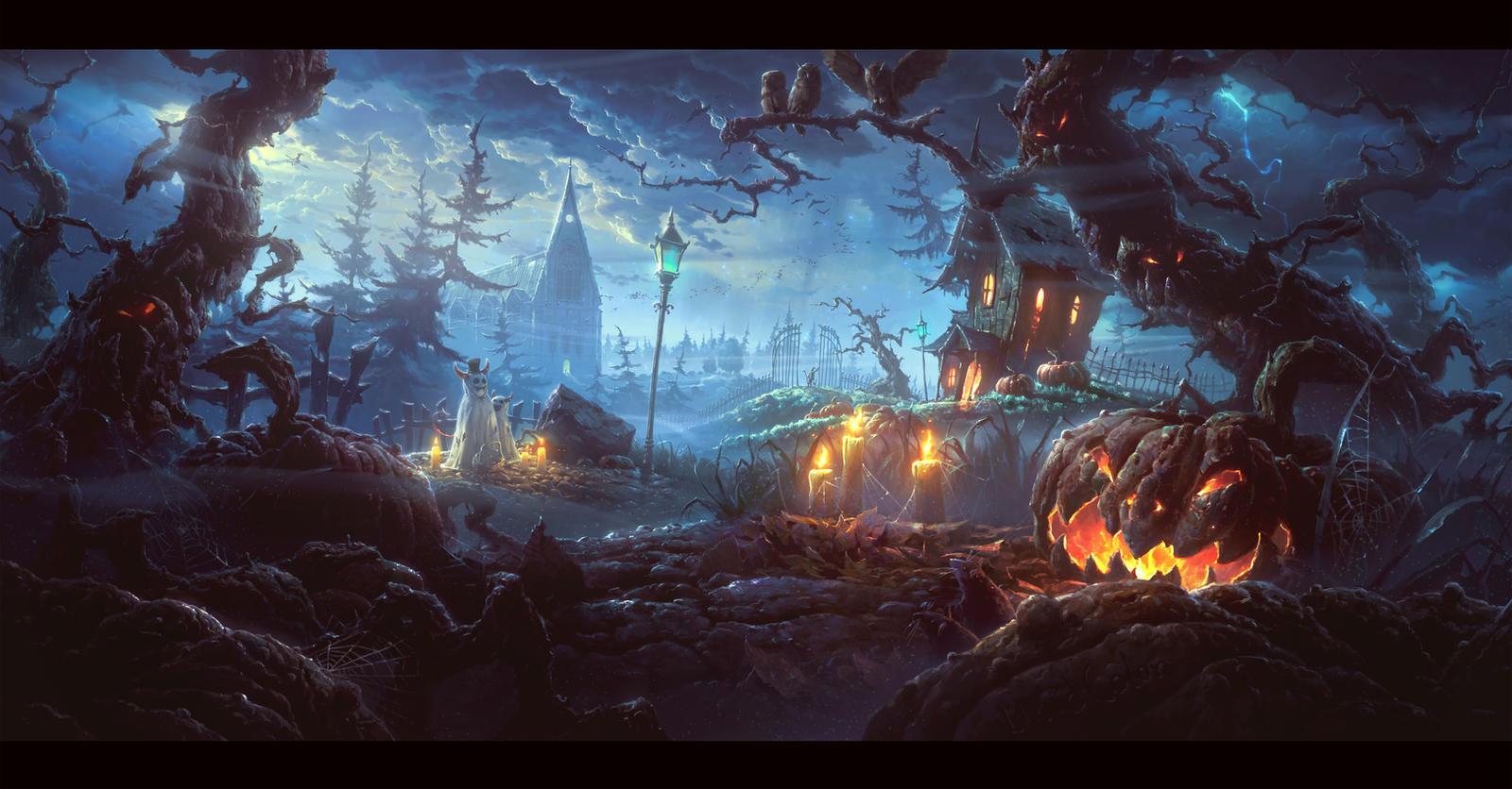 qauz halloween by unidcolor