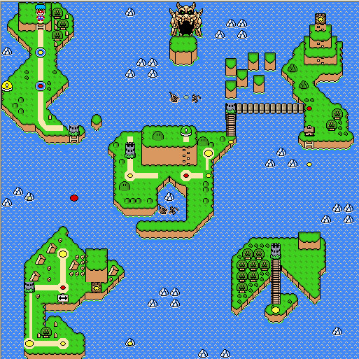 My SMW Rom Hack OW map by TheBigMan0706 on DeviantArt