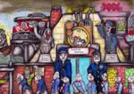 Ghastly Commute through Apathy under Acid Sky