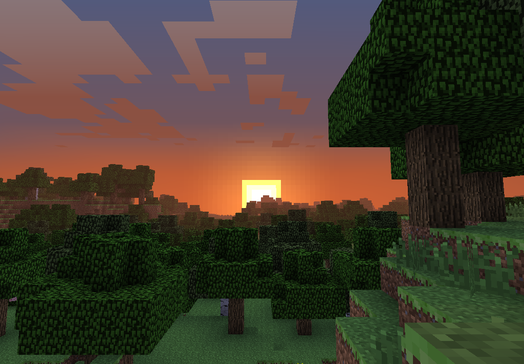 Sunset Of Minecraft By Thedman1361 On Deviantart