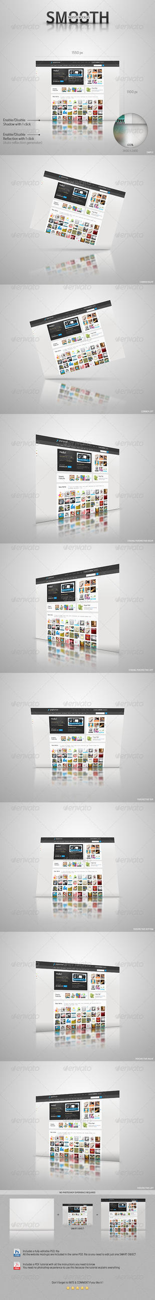 Smooth Website Mockups by Crealextion