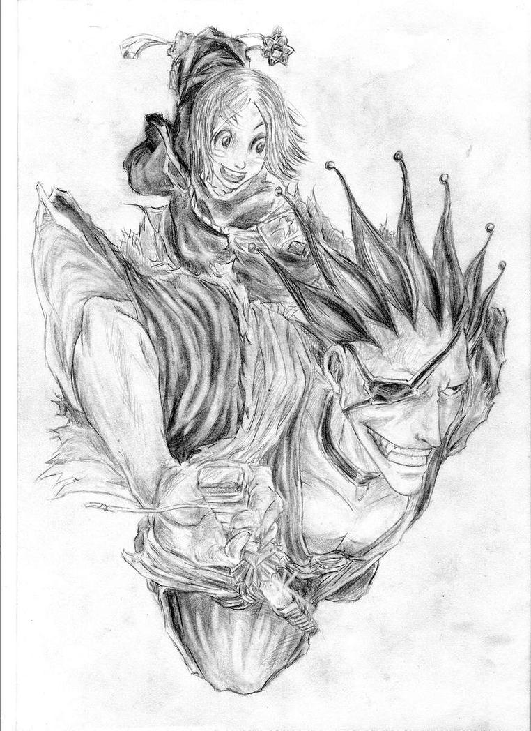 Zaraki Kenpachi and Yachiru Kusajishi by Yami-Leozin on DeviantArt