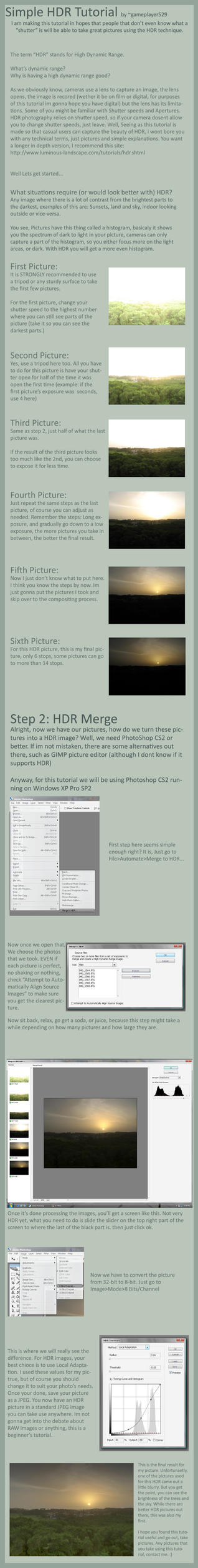 Simple HDR Tutorial by gameplayer529