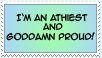 Athiest Stamp by Kayia
