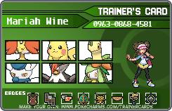 My Pokemon Trainer Card remake by Britishgirl2012