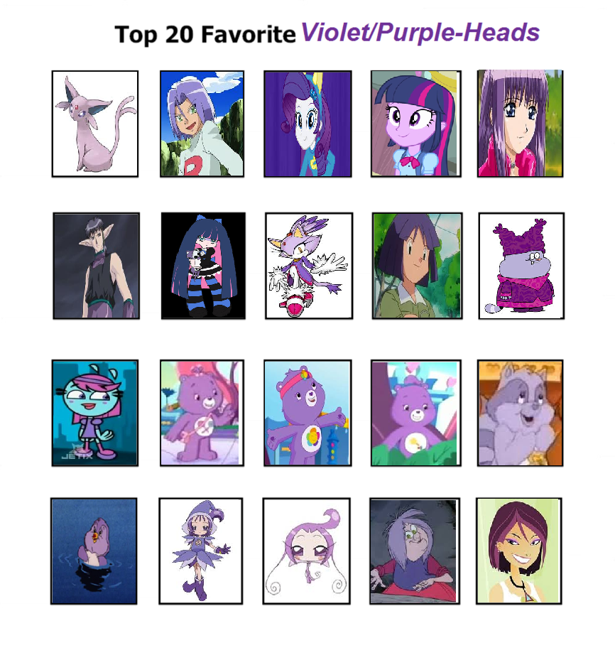 Cartoon Characters With Purple Hair : Top favorite purple haired characters by