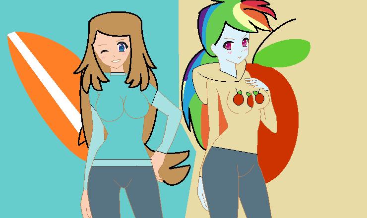 CC - Serena + Rainbow Dash as Gwen's Friends by Britishgirl2012