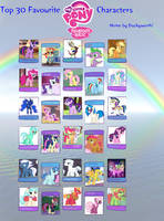 My Top 30 Favorite MLP Characters meme by Britishgirl2012
