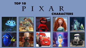 My Top 10 Favorite Pixar Characters