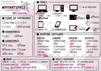 Artistic Workspace (Meme) by RoboMommy