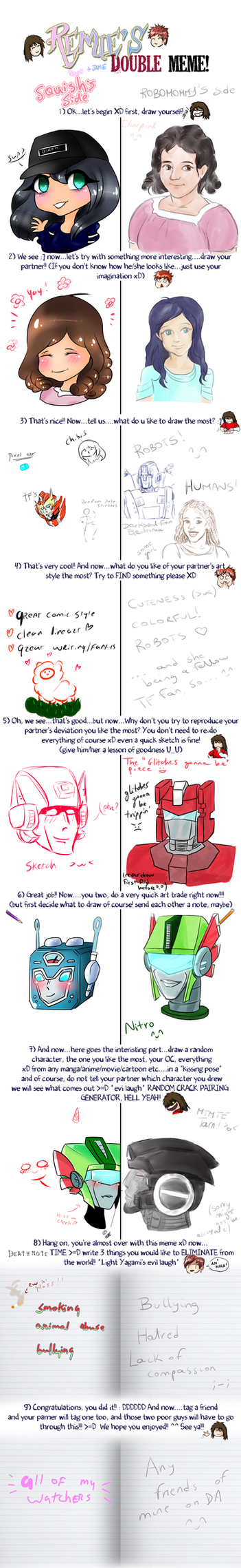 Double Meme with SquishyAutobot by RoboMommy