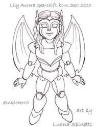 #inktober 10 - Lily Aurora Gearshift