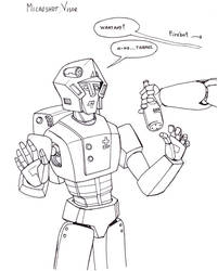 #inktober 13 - Microshot Visor (Rolamaton)