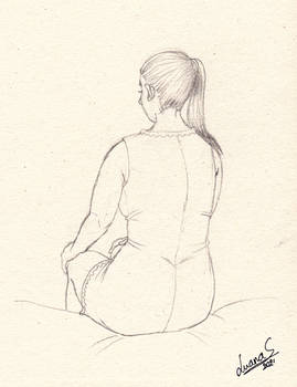 Rear view (young woman)