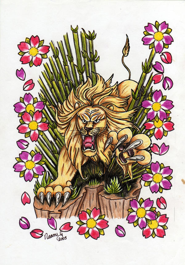 tattoo flash art lion by killORkiss on deviantART