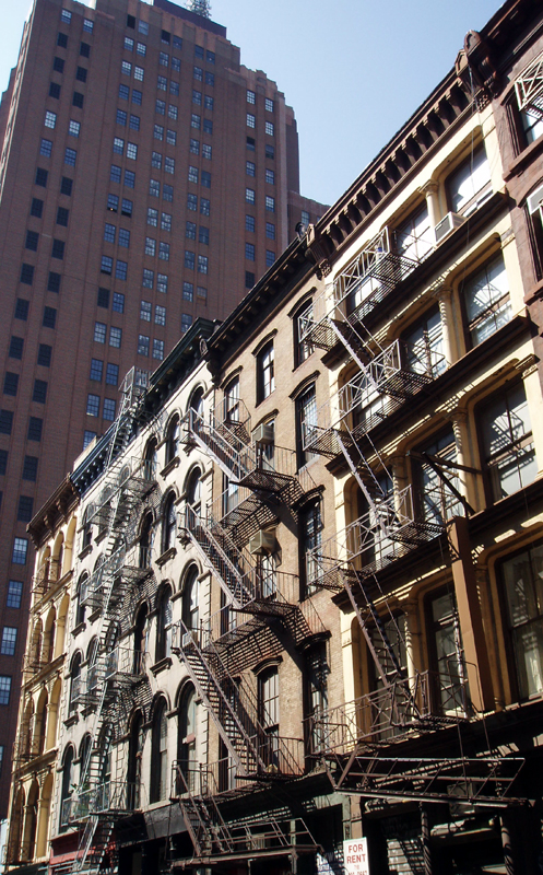 fire escapes, Tribeca by WickedOne6666